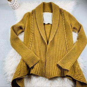 Anthro. Canary wool blend cardigan